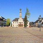 Markt und Rathaus in Rochlitz
