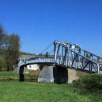 Hängebrücke über die Zwickauer Mulde bei Sörnzig