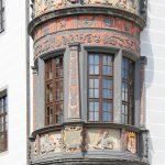 Rathaus Torgau, Detail Erker