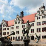 Rathaus und Marktbrunnen Torgau