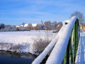 Winter an der Weißen Elster bei Draschwitz (Burgenlandkreis)