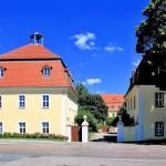 Barocke Torhäuser des Schlosses in Heyda bei Wurzen