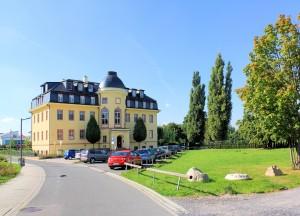 Barockschloss in Zöbigker am Cospudener See