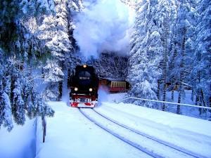 Nicht nur im Winter romantisch - die Brockenbahn