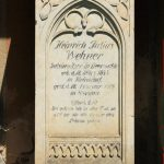 Grabdenkmal Wehner Beerwalde, GRabsetin Heinrich Julius Wehner