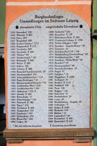 Gedenktafel in der Emmauskirche in Borna