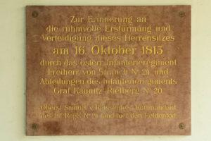 Gedenktafel Erstürmung Herrensitz Dölitz in Dölitz-Dösen