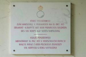 Gedenktafel für Fürst Poniatowski Dölitz-Dösen