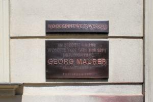 Gedenktafel für Georg Maurer in Gohlis-Süd