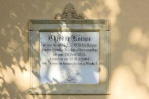 Gedenktafel für Theodor Körner Großzschocher