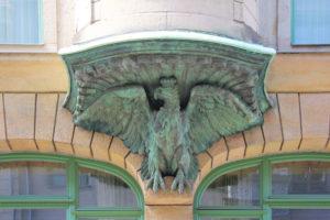Hauszeichen Adler-Apotheke Leipzig