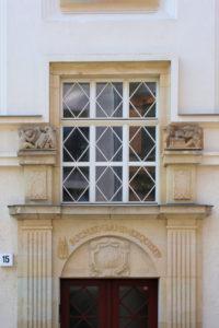 """Portal der Buchdruckerei """"Gutenberg"""" Albert Paul in Leipzig (Stadtbildverlag,"""
