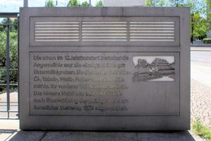Gedenktafel für die Angermühle in Leipzig