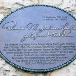 Zentrum, Gedenktafel Anna Magdalena Bach
