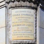 Zentrum, Gedenktafel Bamberger
