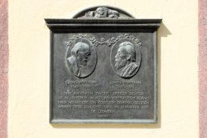 Gedenktafel für Georg Bötticher und Edwin Bormann
