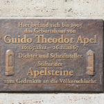 Zentrum, Gedenktafel Guido Theodor Apel