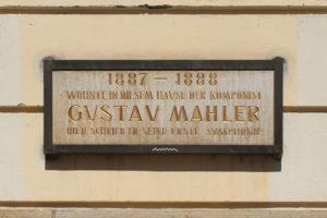 Gedenktafel für Gustav Mahler in Leipzig