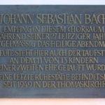 Zentrum, Gedenktafel J.S. Bach Thomaskirche