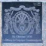 Zentrum, Gedenktafel Leipziger Communalgarde