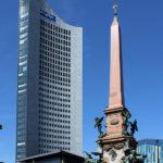 Mendebrunnen und City-Hochhaus Leipzig