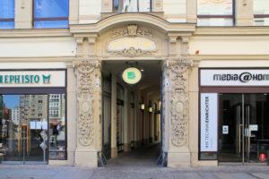 Portal von Barthels Hof in Leipzig