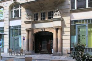 Portal des Lipsiahauses in Leipzig