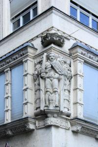 Rolandfigur an Stentzlers Hof Leipzig