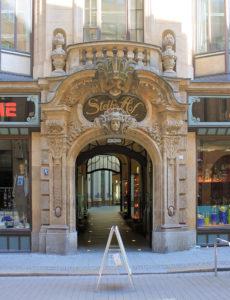 Portal von Steibs Hof Leipzig