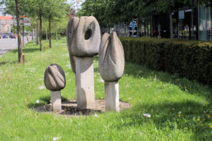 """Skulptur """"Tulpen"""" in Leipzig"""