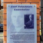 Leutzsch, Gedenktafel Carl Friedrich Goerdeler