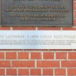 Lindenau, Gedenktafel Johanna Landgraf