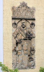 Grabplatte für Hanss von Grunrade Liptitz