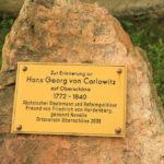 Oberschöna, Gedenkstein von Carlowitz