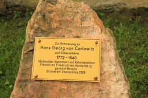 Gedenkstein Hans Georg von Carlowitz Oberschöna