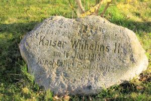 Gedenkstein Kaiser Wilhelm II. in Pödelwitz