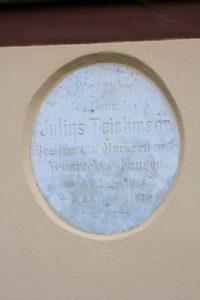 Grabplatte Teichmann Großpötzschau