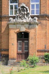 Portal des ehem. Parkkrankenhauses für Psychiatrie in Reudnitz-Thonberg
