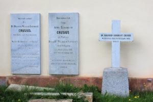 Grabplatten und Grabmal der Familie Crusius Rüdigsdorf