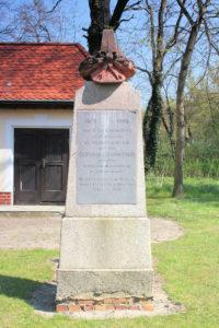 Denkmal für Graf Cajetan Alberti de Poja in Seifertshain