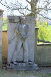 Grabstein auf dem Friedhof Wickershain