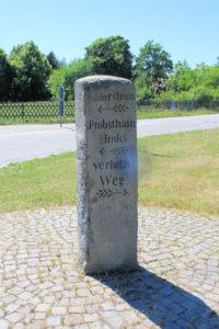 Wegestein in Wildschütz