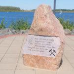 Zwenkau, Gedenkstein Bergbau