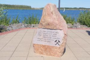 Zwenkau, Gedenkstein Bergbau am Zwenkauer See