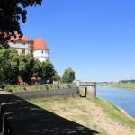 Festung Torgau, Festungsmauer an der Elbe