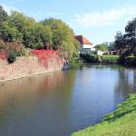 Wasserburg Ostrau, südöstlicher Grabenabschnitt