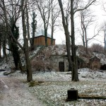 Teuchern, Turmhügel in der Kernburg
