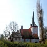 Wahren, Wallburg, Bereich der Kernburg mit der heutigen Ev. Gnadenkirche