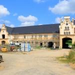 Rittergut Cannewitz, Wirtschaftsgebäude, Hofseite