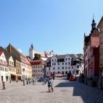 Marktplatz in Colditz, Sachsen